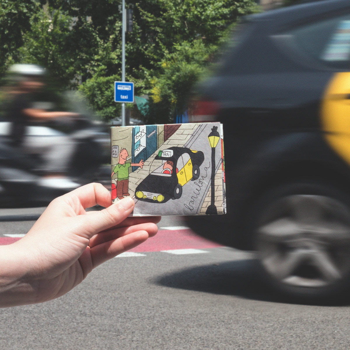 paper_wallet_taxi_passeig_sanjoan